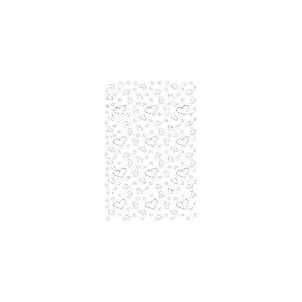 FOLAT 21034 - Geburtstag & Party - Weißer Teppich mit Herzen, 450 x 60 cm