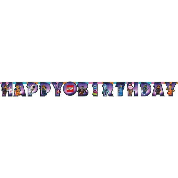 AMSCAN 9904646 - Geburtstag & Party - Party-Kette Girlande LEGO MOVIE 2, 163 cm