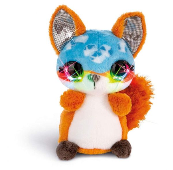 NICI 42474 - Nicidoos Flashies - Icecube Fox Fuchs Droppy Classic, 12 cm