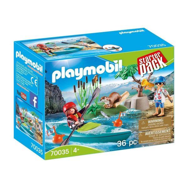PLAYMOBIL 70035 - Starter Pack - Kanu-Training