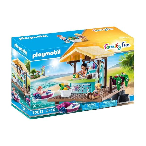 PLAYMOBIL 70612 - Family Fun - Paddleboot-Verleih mit Saftbar