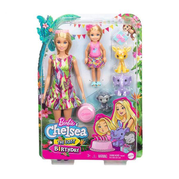 MATTEL GTM82 - Barbie & Chelsea - Dschungelabenteuer Puppen Set The Lost Birthday