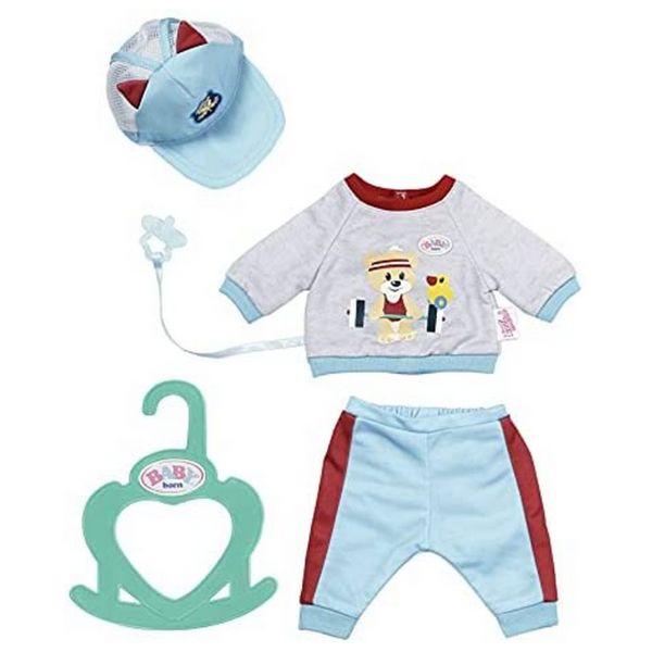 ZAPF 831878 - BABY born® - Little Sport Outfit Set blau, 36 cm