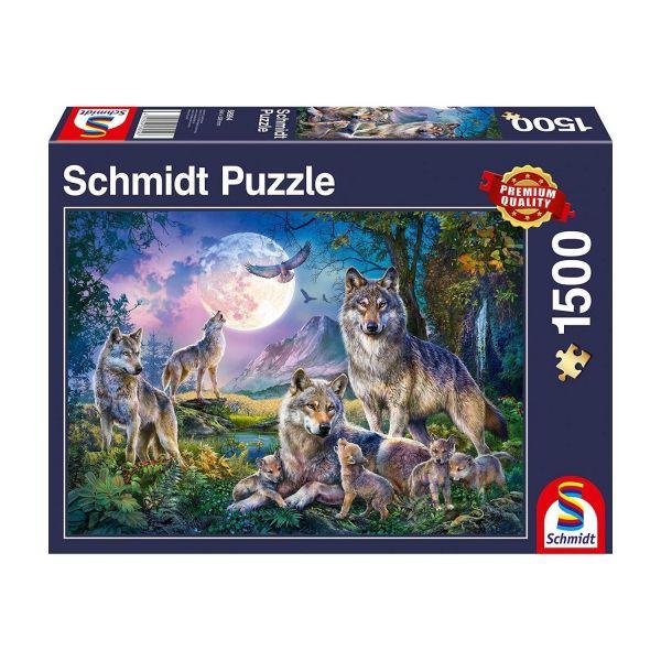 SCHMIDT 58954 - Puzzle - Wölfe, 1500 Teile