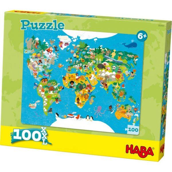HABA 302003 - Puzzle - Weltkarte