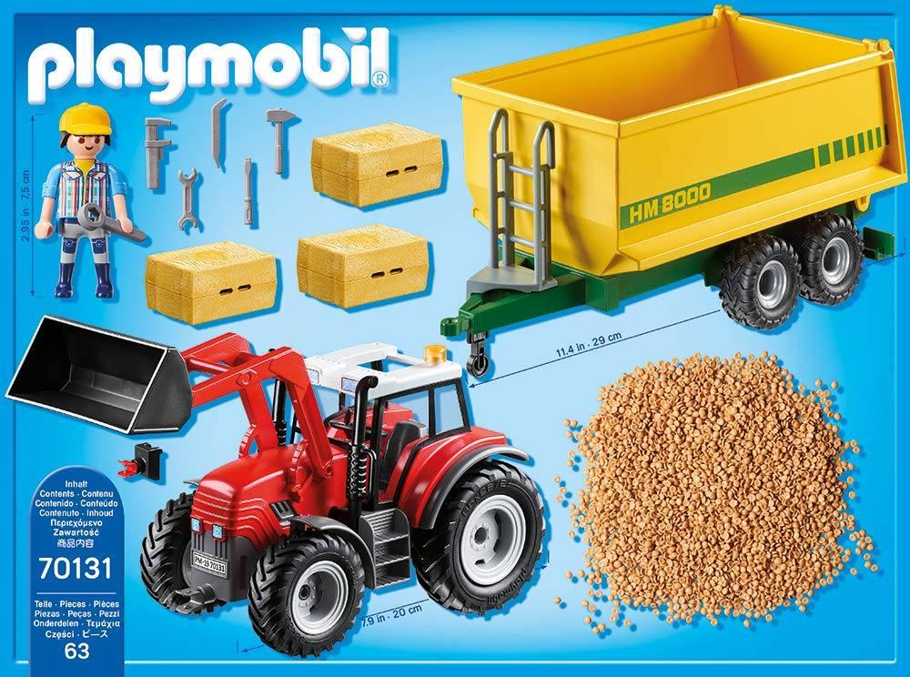 playmobil 70131  country bauernhof  riesentraktor mit