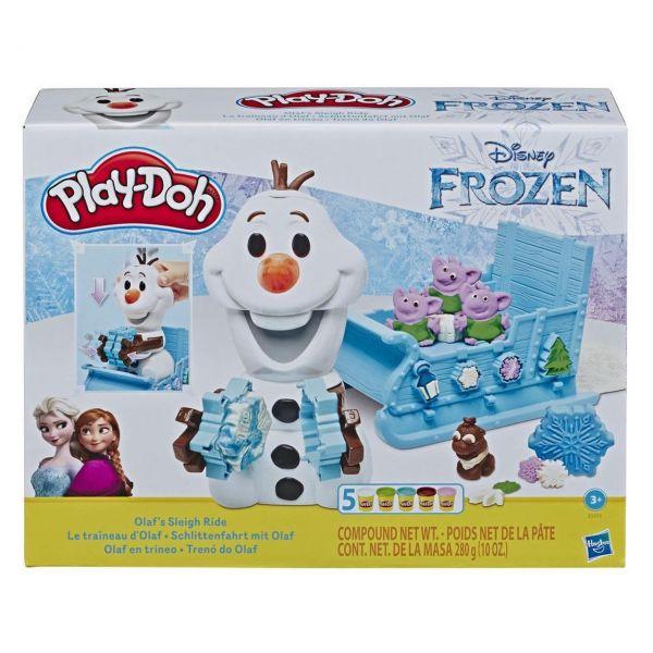 HASBRO E5375 - Play-Doh - Die Eiskönigin, Schlittenfahrt mit Olaf