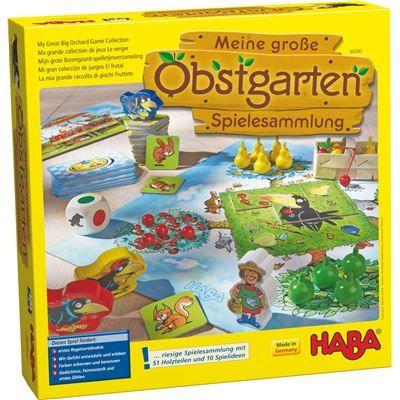 HABA 302282 - Gesellschaftsspiel - Meine große Obstgarten, Spielesammlung