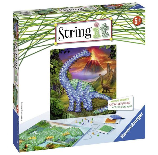 RAVENSBURGER 18031 - String It Midi - Dinosaurier