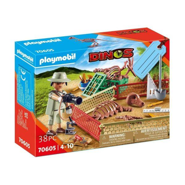 "PLAYMOBIL 70605 - Dinos - Geschenkset ""Paläontologe"""
