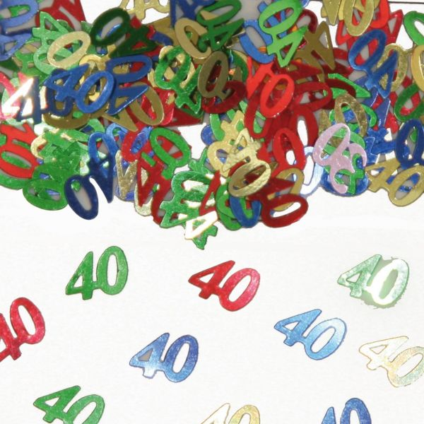 FOLAT 05315 - Geburtstag & Party - 40 Jahre Tischkonfetti
