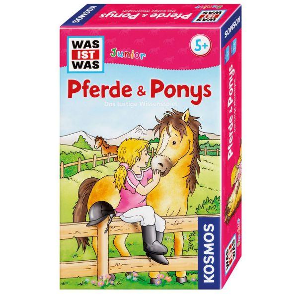 KOSMOS 712563 - Mitbringspiel - Was ist Was? Junior, Pferde und Ponys