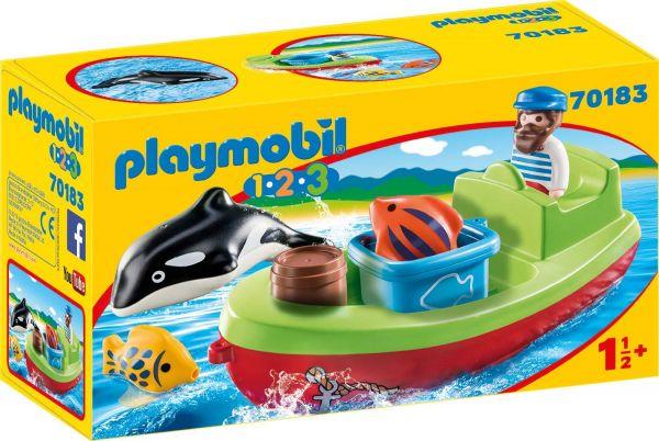 PLAYMOBIL 70183 - 1.2.3 - Seemann mit Fischerboot