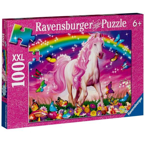 RAVENSBURGER 13927 - Puzzle - Pferdetraum Glitter, 100 Teile XXL