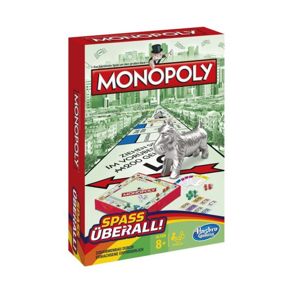 HASBRO B1002 - Gesellschaftsspiel - Monopoly Kompakt