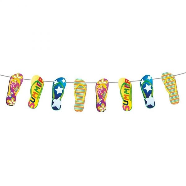 FOLAT 20715 - Geburtstag & Party - Girlande Flip-Flop-Look, 10m
