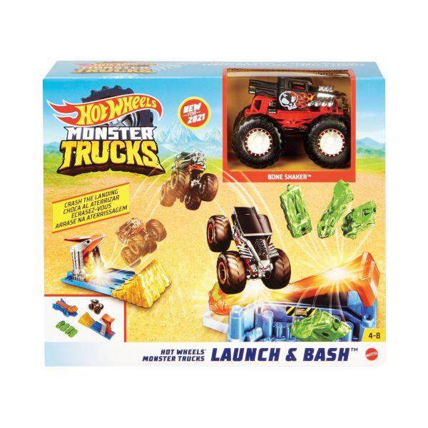 MATTEL GVK08 - Hot Wheels - Monster Trucks Startrampen-Crash