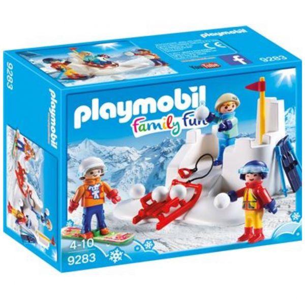 PLAYMOBIL 9283 - Family Fun Wintersport - Schneeballschlacht
