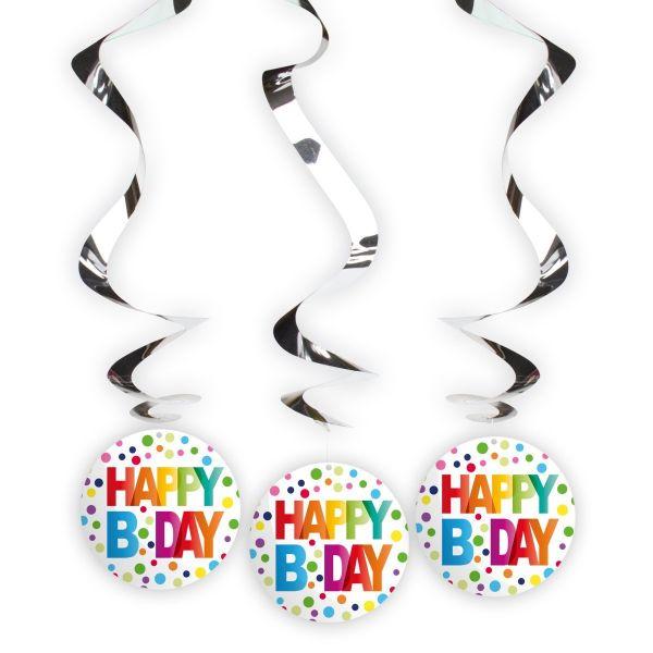 FOLAT 65119 - Geburtstag & Party - Girlande Regenbogen Punkte