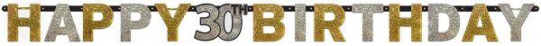AMSCAN 120207 - Sparkling Celebrations Gold, 30. Geburtstag - Partykette, 213x16,2 cm