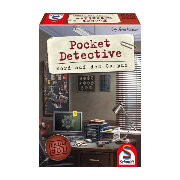 SCHMIDT 49377 - Familienspiel - Pocket Detective, Mord auf dem Campus