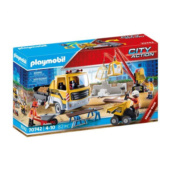 PLAYMOBIL 70742 - City Action - Baustelle mit Kipplaster