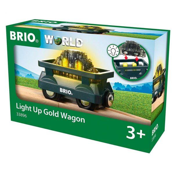 BRIO 33896 - Bahn - Goldwaggon mit Licht