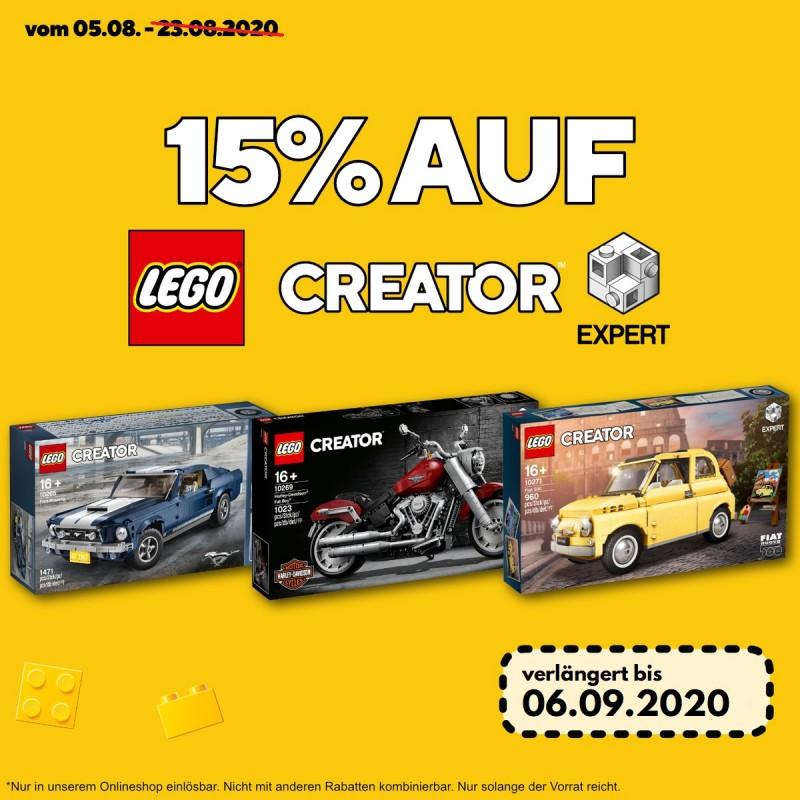 15% auf LEGO Creator Expert Artikel bei Spielzeugwelten.de