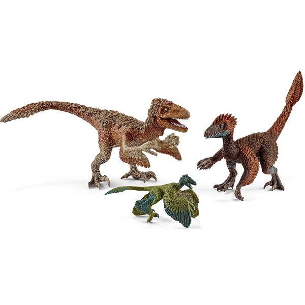 SCHLEICH 42347 - Dinosaurs - Gefiederte Raptoren, 3 Stk. im Set