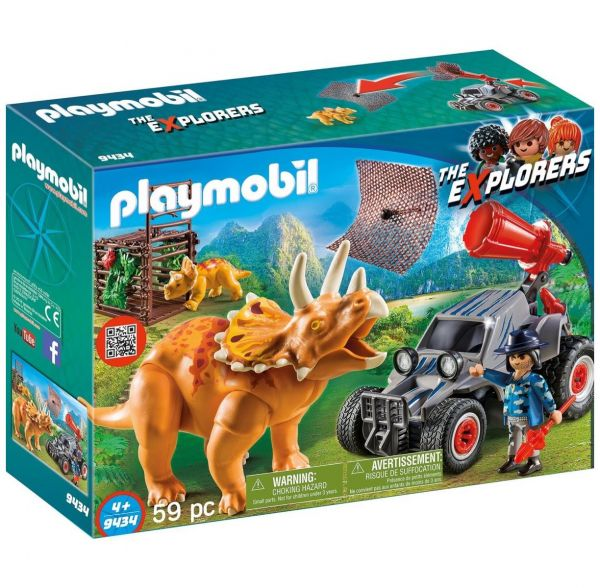 PLAYMOBIL 9434 - The Explorers - Offroader mit Dino-Fangnetz