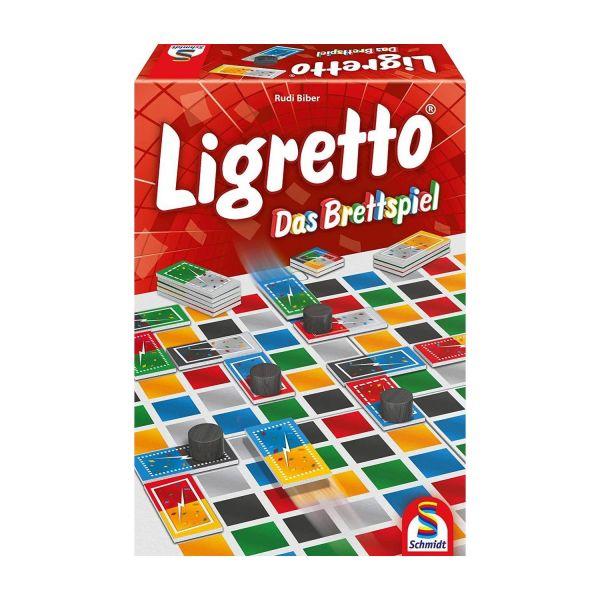 SCHMIDT 49386 - Familienspiel - Ligretto, Das Brettspiel
