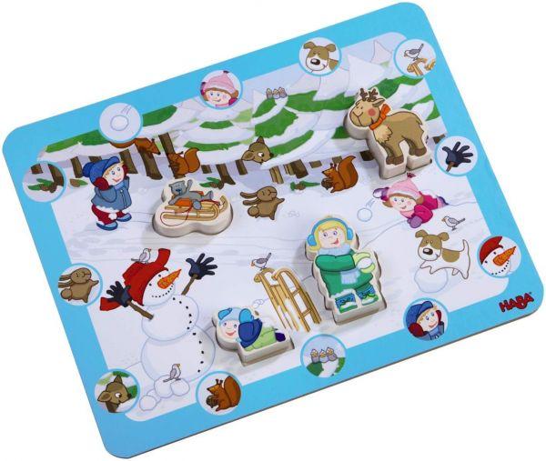 HABA 7656 - Entdecker-Puzzle - Winterspaß