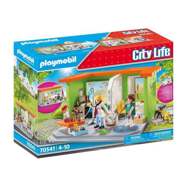 PLAYMOBIL 70541 - City Life, Meine kleine Stadt - Meine Kinderarztpraxis