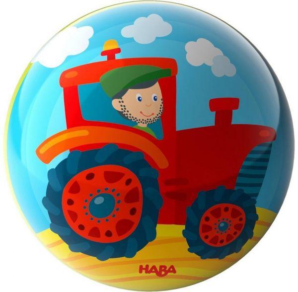 HABA 303479 - Ball - Traktor, 15 cm Durchmesser