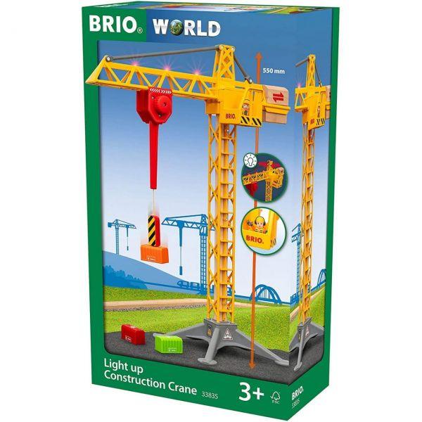 BRIO 33835 - World - Großer Baukran mit Licht