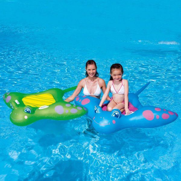 BESTWAY 41084 - Schwimmtier - Manta grün oder blau sortiert 1 Stück 150cm