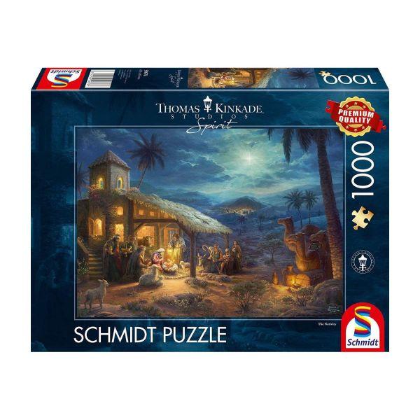 SCHMIDT 59676 - Puzzle - Thomas Kinkade, Jesu Geburt, 1000 Teile