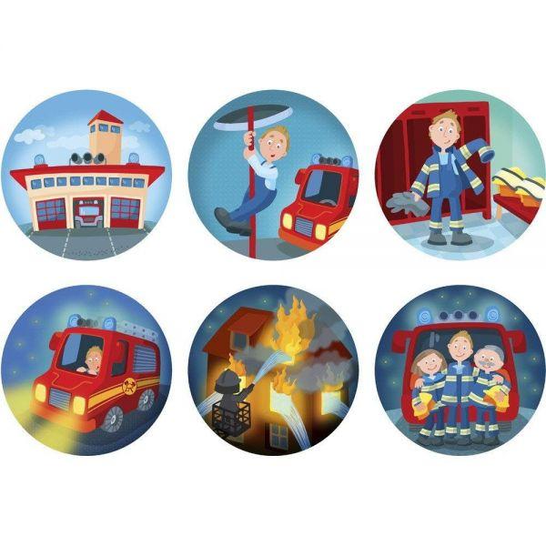 HABA 302883 - Taschenlampen-Projektor - Feuerwehr-Einsatz