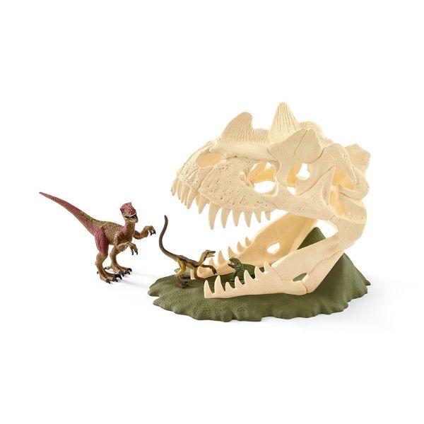 SCHLEICH 42348 - Dinosaurs - Große Schädelfalle mit Velociraptor