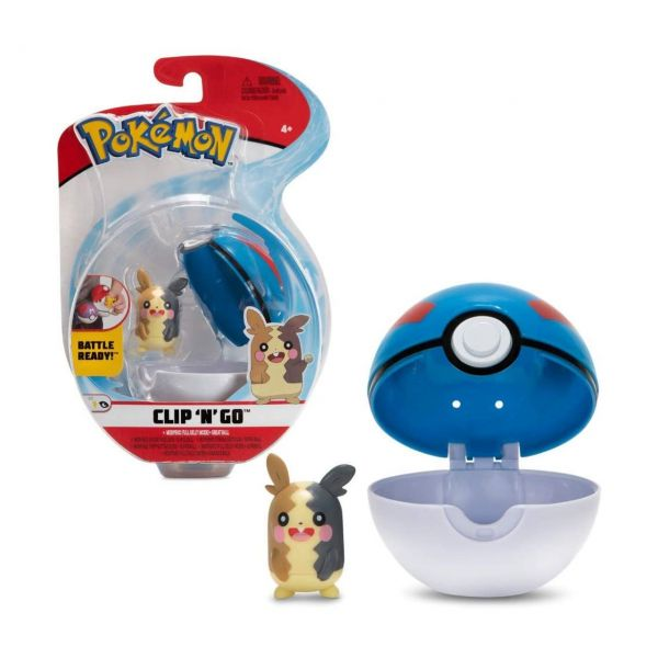 BOTI 37253 - Pokémon Figuren - Clip 'n' Go™ Poké Ball und Morpeko
