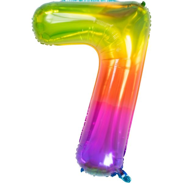 FOLAT 63427 - Folienballon - Zahl 7, Yummy Gummy, 86cm