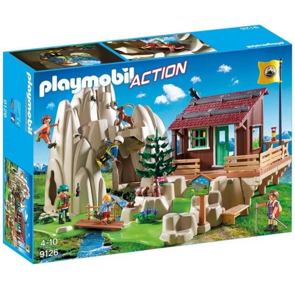 PLAYMOBIL 9126 - Action - Kletterfels mit Berghütte