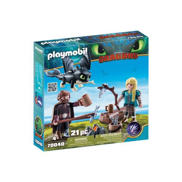 PLAYMOBIL 70040 - Dragons - Hicks und Astrid mit Babydrachen