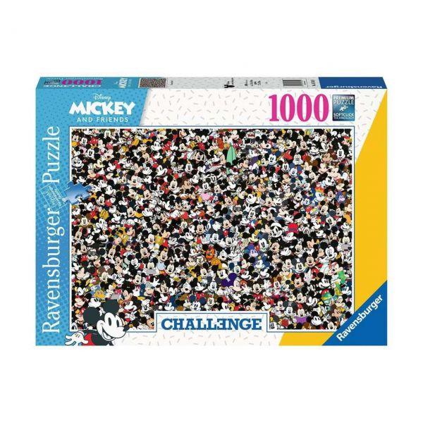 RAVENSBURGER 16744 - Puzzle - Challenge Mickey, 1000 Teile