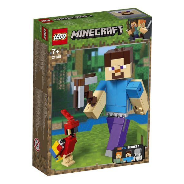 LEGO 21148 - Minecraft - Minecraft™-BigFig Steve mit Papagei
