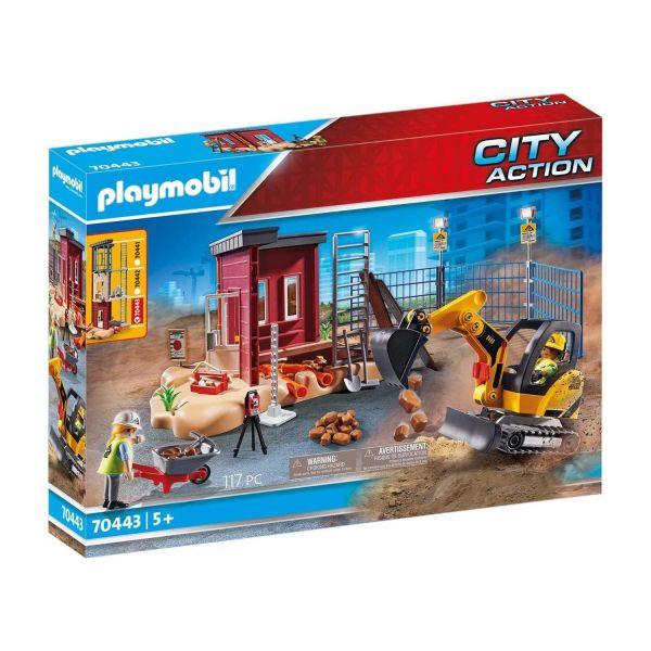 PLAYMOBIL 70443 - City Action - Minibagger mit Bauteil