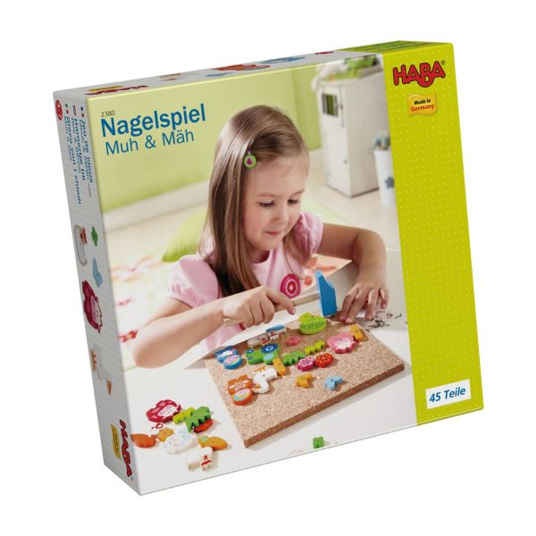 HABA 2380 - Nagelspiel - Muh & Mäh