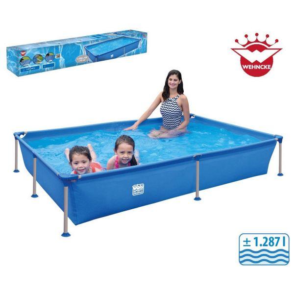 Wehncke Happy People 77516 - Pool - Stahlrahmen Frame rechteckig, blau, 228x159x42cm