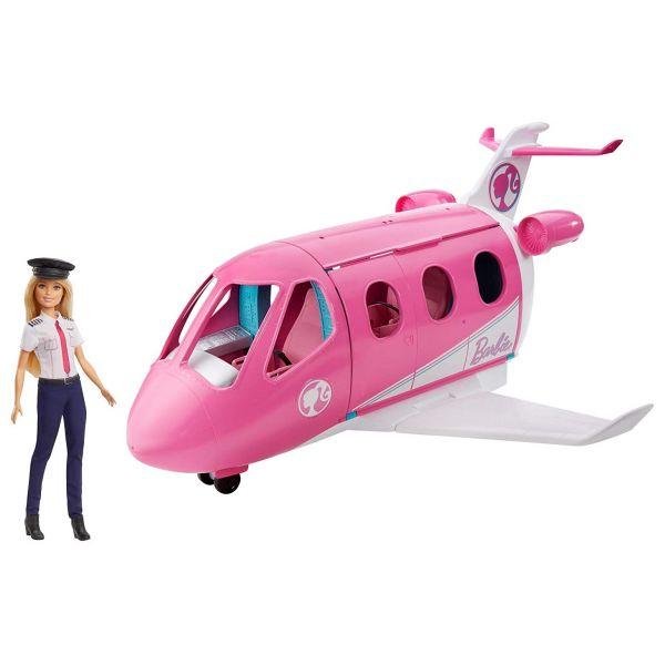 MATTEL GJB33 - Barbie - Prinzessinnen Reise Flugzeug mit Puppe und Zubehör