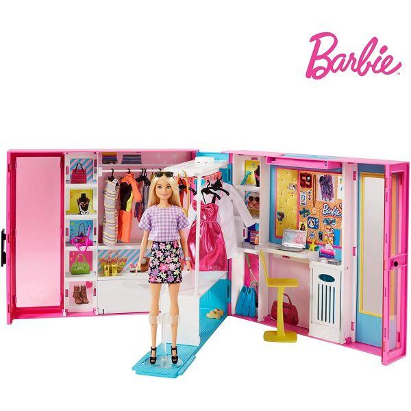 MATTEL GBK10 - Barbie - Traum Kleiderschrank mit Puppe Spielset